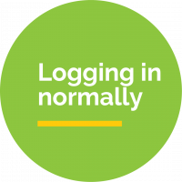 Logging in normally