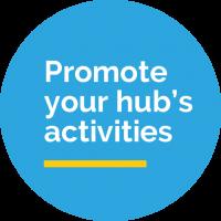 Promote your hub's activities